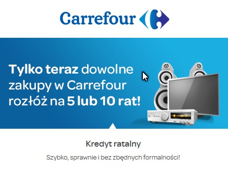 carrefour raty 0% procent